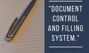 DOCUMENT CONTROL AND FILING SYSTEM – Available Online